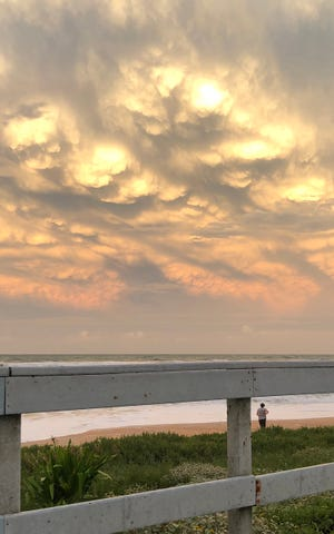 Storm Isaias clouds rolling over Flagler Beach.