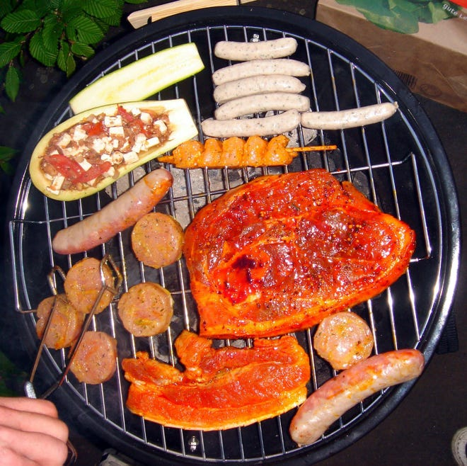 If you are grilling outside this winter, be sure to place your grill on a firm level surface. [Photo by Obersachse (Own work)