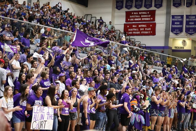 Tarleton State sports fans cheer on the men's basketball team in this photo from last season. Tarleton Athletics and Tourbeau Sports Group have partnered to broadcast six home sporting events on ESPN+ across three sports in the spring semester.