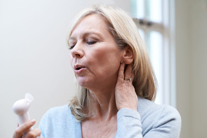 Some tips for managing hot flashes include: wear light clothing, keep your room cool, use a fan, drink cold water, avoid smoking, caffeine, spicy foods, and alcohol, maintain a healthy weight, take several slow and deep breaths when you feel a hot flash coming on and ask your doctor about medicines that can help.