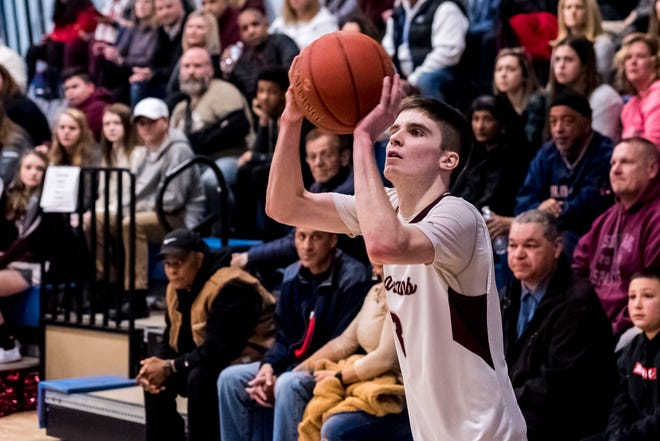 Bishop Stang's Declan Markey (pictured last year) is back after being named the 2019-20 Standard-Times Boys Basketball Player of the Year.