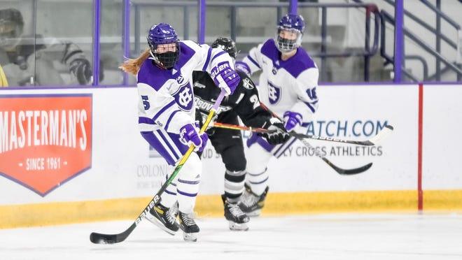 Holy Cross women's hockey player Bryn Saarela.