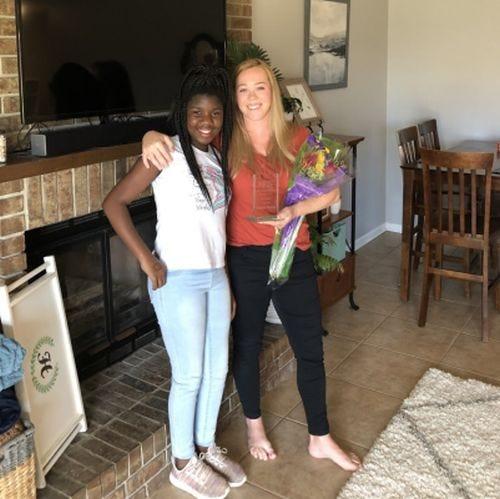 Tynetta, left, poses with her Big Sister, Cristen Hobbs. The Big Brothers Big Sisters program is seeking volunteer mentors for 2021.