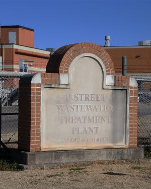 The entrance to the P Street Wastewater Treatment Plant, 13 N P St, as seen, Tuesday, Jan. 5. The five-year extension of the Consent Decree offered to the city in May 2020 has not gone into effect.