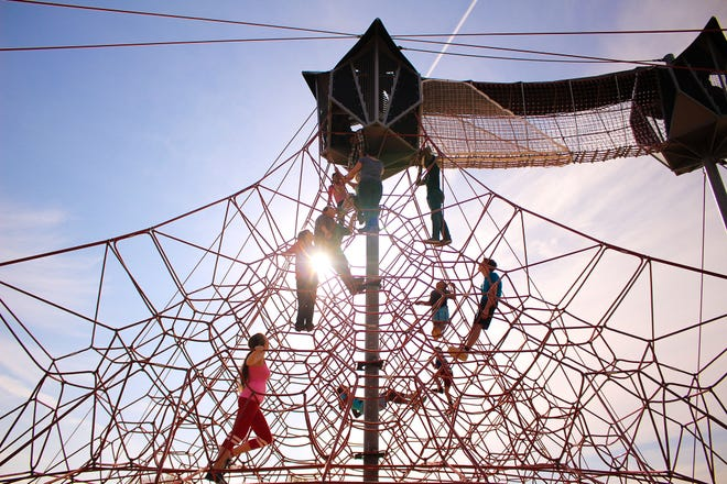 City and park officials are seeking public input on what kind of park and recreation upgrades, improvements and amenities, like the Space Net at Snow Hinton Park, that users want to see funded through the Elevate Tuscaloosa plan. [Staff file photo]