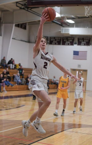 """Tanner Compton helped Columbus Academy get out to a 3-3 start before playing Bexley on Jan. 12. """"I feel good where we're at,"""" coach Jeff Warstler said. """"These guys are invested."""""""