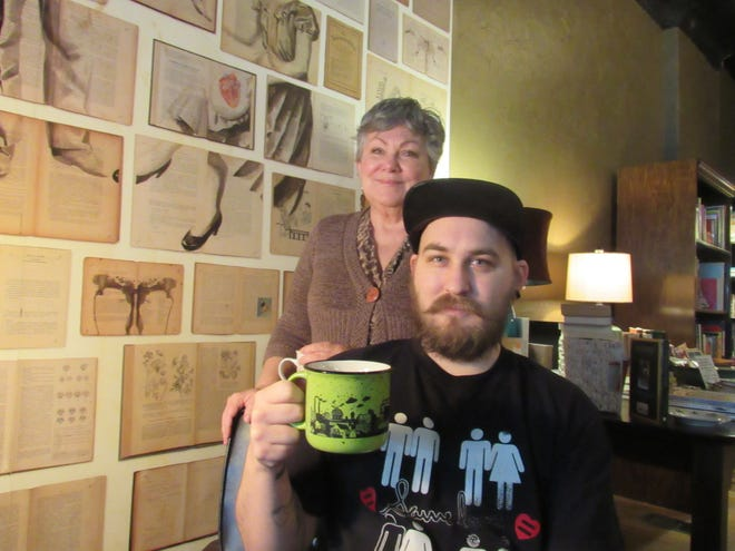 Kay Austen Johnson has founded Austen & Company, a combination bookstore-tea house at 1530 S. High St. in Merion Village. She is pictured with her son, AJ Willey.