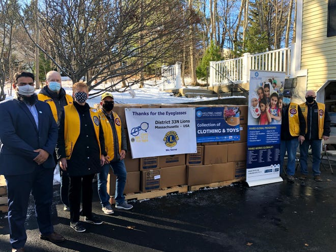 The Lexington Lions recently collected 35,600 pairs of eyeglasses to donate.