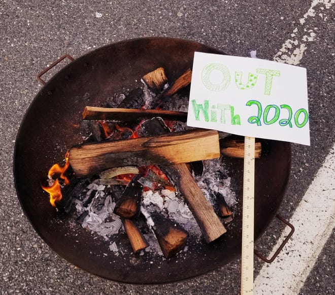 Out with 2020 Firepit at the Sudbury Senior Center