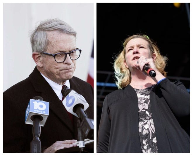 """Governor Mike DeWine and Dayton Mayor Nan Whaley are on opposite sides of the debate on """"stand your ground"""" legislation."""