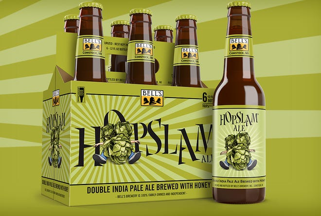 Bell's Brewery is shipping Hopslam in bottles for 2021.