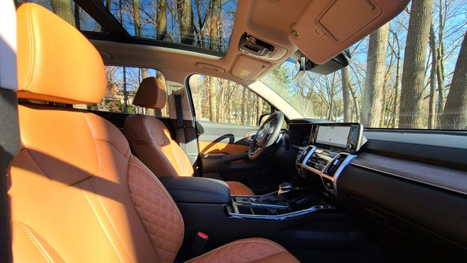 The 2021 Kia Sorento options a panoramic sunroof on this $43,000 SUV.