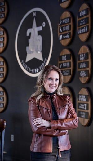 Farragut interior designer Marshanda Pinchok previews her design wall at 35 North-Farragut Monday, Dec. 28, 2020.