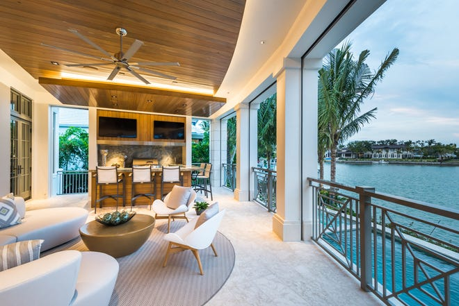 London Bay Homes' waterfront Port Royal luxury estate on Gordon Drive featuring picturesque views of Cutlass Cove and the beautiful greens of mangroves on Keewaydin Island recently sold for $12.8 million.