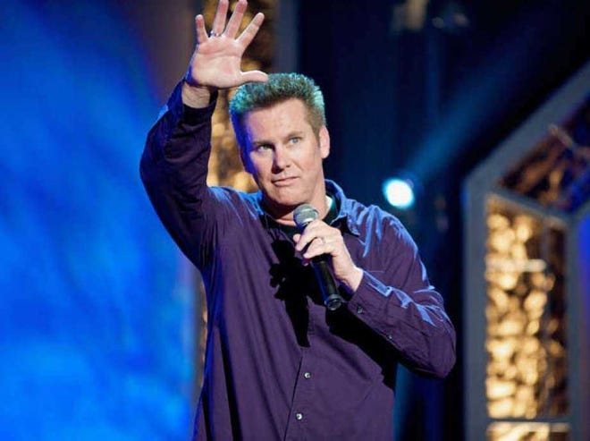Comedian Brian Regan is set to perform April 15 at Sarasota's Van Wezel Performing Arts Hall, with precautions including 50% capacity and new air purification units inside the hall.