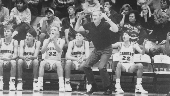 Former Farmington High School boys basketball coach Marv Sanders, who coached FHS from 1980 to 2003, won two state titles with the Scorpions in 1982 and 1986.