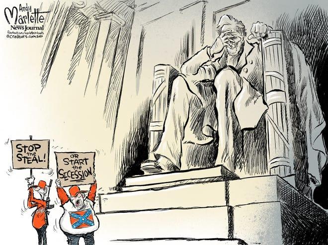 Marlette cartoon: Abe's anguish