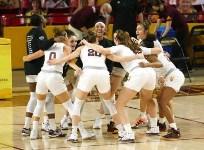 ASU women's basketball, shown against Stanford on Jan. 3, is postponing games two more games this week due to COVID issues, at home vs. Oregon State and Oregon.