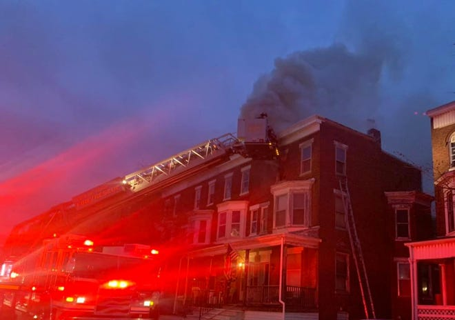 York City firefighters extinguished a structure fire Monday evening  Jan. 4, 2021