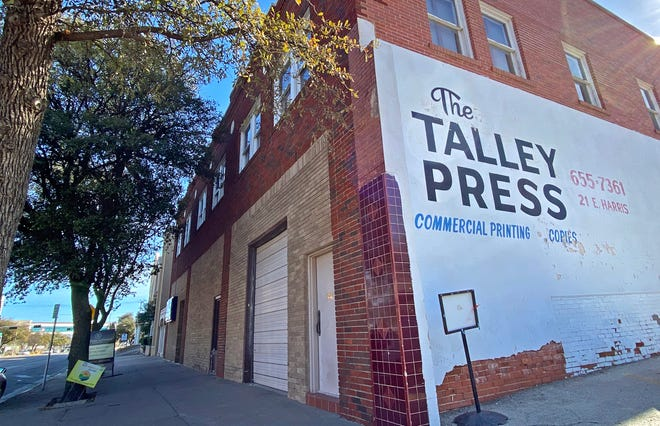 The Talley Press in downtown San Angelo, seen here in this Tuesday, Jan. 5, 2021 photo, has closed after 96 years in business.