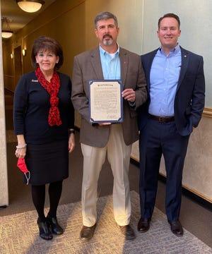 The San Angelo Kiwanis Club with 100th anniversary proclamation.