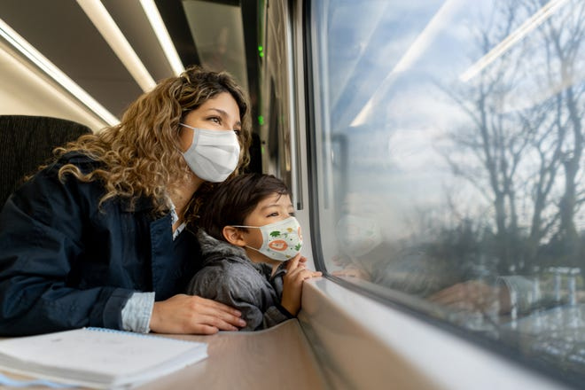 Yes, you still have to wear masks on Amtrak, but seats on trains tend to be more comfortable and you don't have to remove your shoes to get through security.