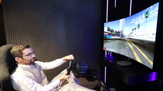 LG's 48-inch Bendable Cinematic Sound OLED (CSO) is being showcased prior to CES 2021.