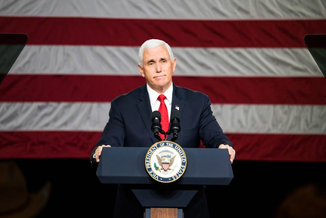 Vice President Mike Pence campaigns for GOP Senate candidates Jan. 4 at Rock Springs Church  in Milner, Ga.