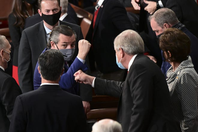 Texans in Congress, like Sen. Ted Cruz, who voted to object to presidential election results, should be remembered at election time, a reader writes.