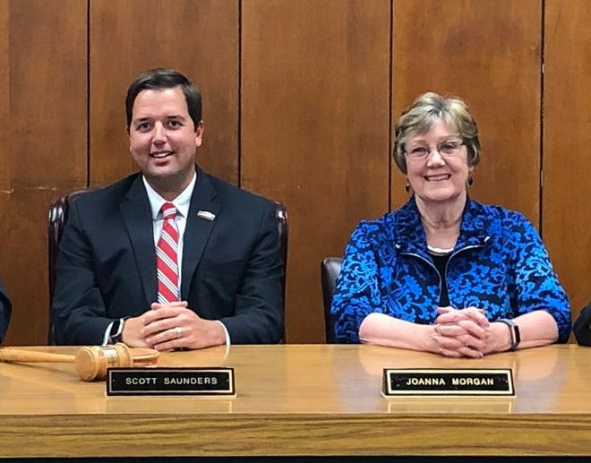 Smithville Mayor Scott Saunders (left) is resigning effective Jan. 11. The council is expected to take up a vote to appoint Mayor Pro Tem Joanna Morgan (right) to the city's highest elected office.