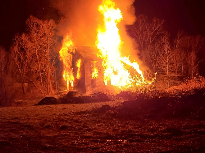 Firefighters say it was too late to save a home that burned on Twinsburg Road in Northfield Center early Tuesday morning.