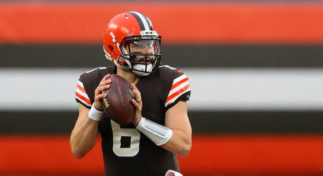 Browns quarterback Baker Mayfield is a big reason this training camp is expected to have a different feel. [Jeff Lange/Beacon Journal]