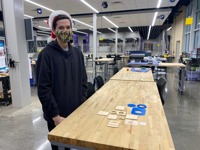 Anna High School Student Colton Huggins built a time capsule to memorialize the year 2020