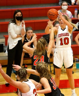 Crestview's Kylie Ringler has the Cougars at No. 1 in the Richland County Girls Basketball Power Poll.