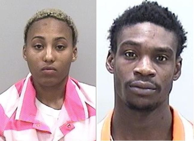 Shakeyla Faulks, left, and Kentwain Moody, right, were both charged with murder in the shooting death of Khalid Ravenell in Augusta.