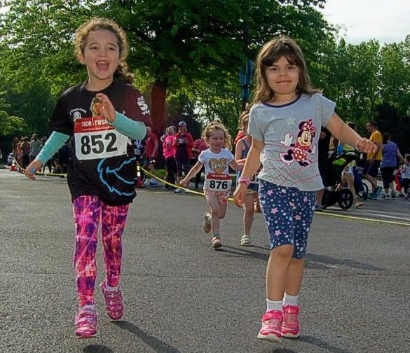 Young runners like these will have to wait another year for the return of the Sesame Place Classic's kids' sprint.