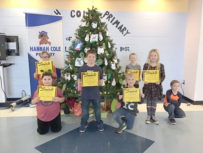 Hannah Cole 2nd Grade Students of the Month (left to right):  Will Felten, Madison Rapp, Ashton Simms, Connor Wood, Rhett Townlain, Parker DeVillier, (Ian Johnston - November), (Absent - Not Pictured:  Tora Shay, Skyler Wolf)