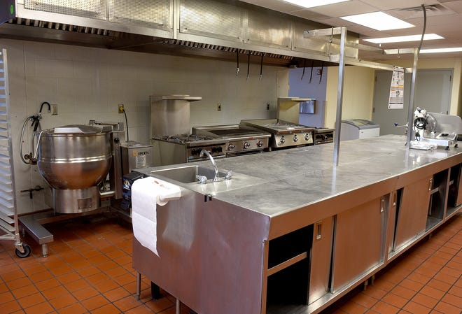 A view of the CoMo Cooks shared commercial kitchen in the basement at Mizzou North at 115 West Business Loop 70.