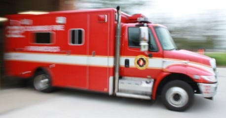 Columbus Division of Fire paramedics respond to a call.