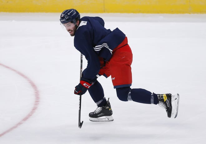 Blue Jackets forward Liam Foudy added 10 pounds of muscle in the offseason to help deal with physical defenders.