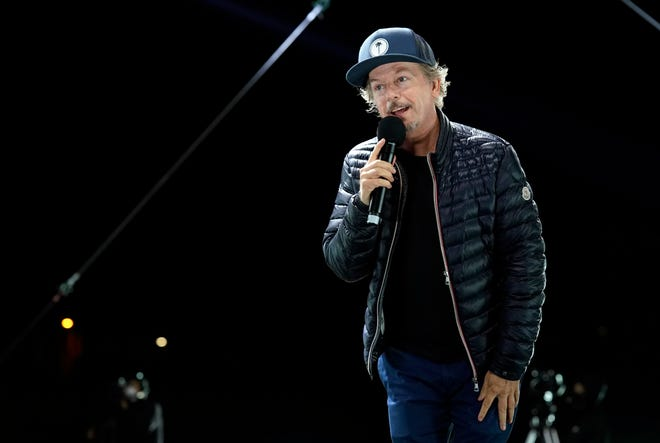 """Comedian David Spade, performing at """"Comedy In Your Car"""" at the Ventura County Fairgrounds in California in August, has a new show on Netflix."""
