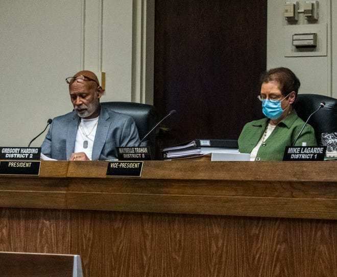 Greg Harding and Maybelle Trahan are this year's new president and vice president for the Terrebonne Parish School Board. They will serve a 1-year term.