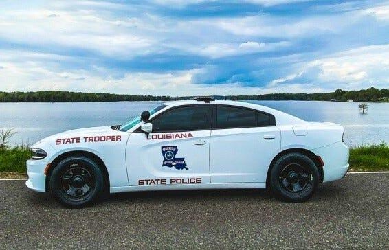 Louisiana State Police patrol unit.