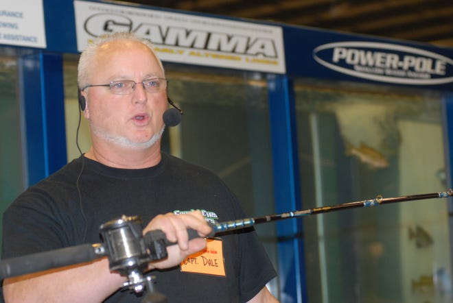 Daily Record file photoCaptain Dale Grimm, of Special-Eyes Charters, will be on the seminar stage each day of the Sportsman Show discussing Lake Erie Walleye tactics.