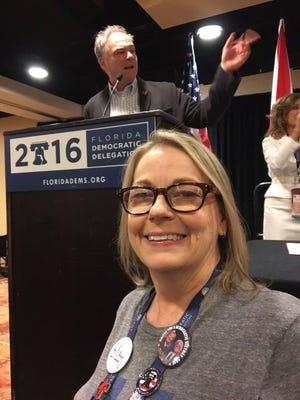 Susanne Raines, seen at the 2016 Democratic National Convention in Philadelphia, ran for the Volusia state committeewoman position in a race that's now being contested.