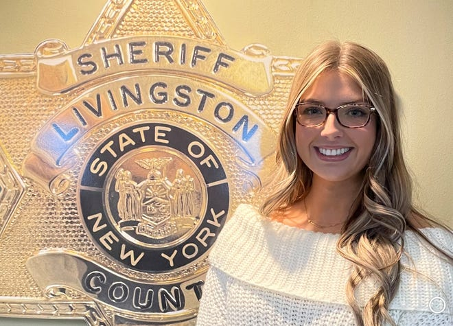 Dansville native Brooke Hartson was recently recognized for her contributions to the Livingston County Sheriff's Office.
