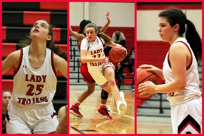 Alicia Goldenziel, Jenna Beach, and Carena Colo are North Pocono's likely starting seniors for this season