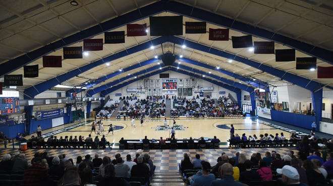 The Mercyhurst Athletic Center hosts the District 10 Class 6A girls basketball championship Feb. 22, 2020. The building will undergo renovations this spring.