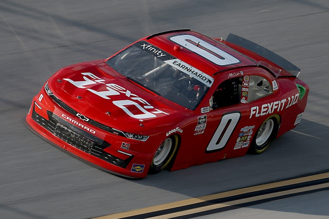 Jeffrey Earnhardt, driver of the No. 0 Flexfit 110 Chevrolet, drives during the NASCAR Xfinity Series Unhinged 300 at Talladega Superspeedway on June 20, 2020 in Talladega, Alabama.