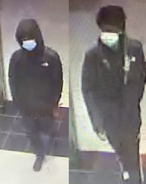 Independence police are trying to identify these two individuals involved in the New Year's Eve shooting at Foot Locker at Independence Center.
